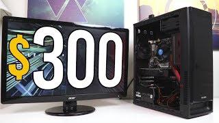 $300 CONSOLE KILLER Gaming PC Challenge! - VOLT PT.1 - Build & Benchmarks