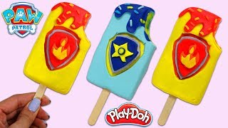 DIY Play Doh Paw Patrol Themed Popsicles! Chase and Marshall