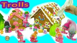 DIY Poppy + Branch Trolls Rainbow Candy Christmas Gingerbread House  Kit - Cookieswirlc Video