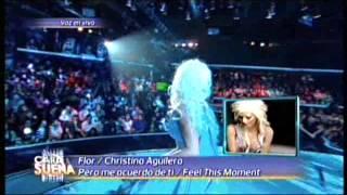 Florencia Peña es Christina Aguilera en Tu Cara me suena