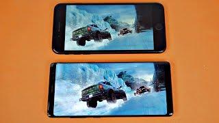Samsung Galaxy Note 8 vs iPhone 7 Plus - Gaming Comparison! (4K)