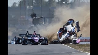 Top 10 IndyCar Crashes of 2018