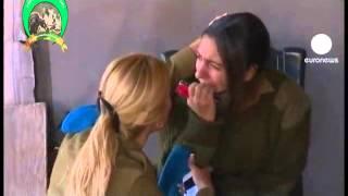 مجندة في الجيش الإسرائيلي تصرخ ذعراً كالأطفال من صواريخ المقاومة فترة حرب حجارة السجيل