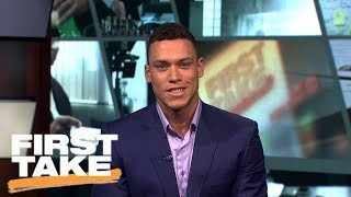 Aaron Judge talks historic season with Yankees and his pick for MVP   First Take   ESPN