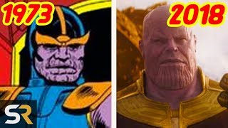 Thanos: Then vs Now - The Evolution Of Marvel