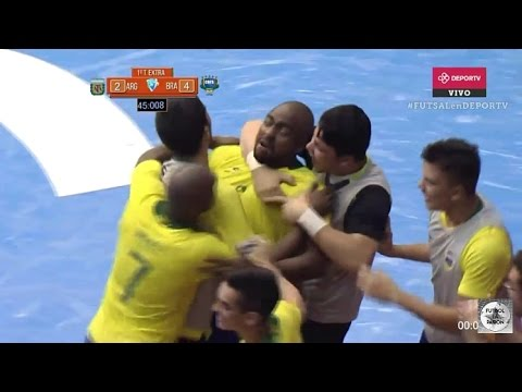 Argentina vs Brasil 2 4 Final Copa América Futsal 2017 todos los goles resumen