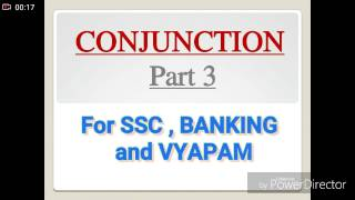 Error on CONJUNCTION PART 3. ENGLISH GRAMMAR FOR SSC, BANKING AND VYAPAM.