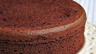 كيك اسفنجي بالشوكولاته من المطبخ العربي Sponge Chocolate Cake