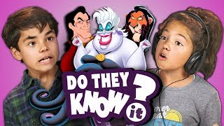 DO KIDS KNOW DISNEY VILLAIN SONGS? (REACT: Do They Know It?)