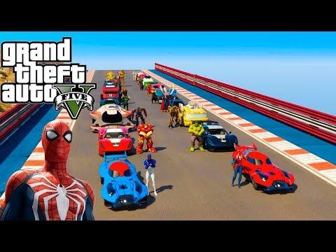 Xxx Mp4 CARROS Hot Wheels Com Super Heróis Na Super Rampa GTA V Mods 3gp Sex