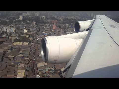 Iran Air B747 200 EP IAI Landing at Mumbai India Window View