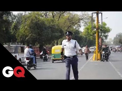 Xxx Mp4 Indore39s Moonwalking Cop Is Literally TrafficStopping 3gp Sex