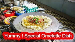 Yummy ! Butter Omelette Dish with Cheese - Yadav Omelette Center-Surat ,Gujarat | Indian Street Food
