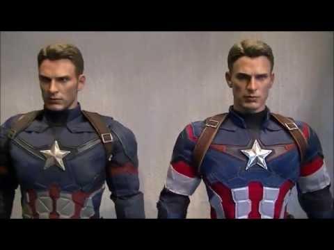 Hot Toys Captain America Comparison