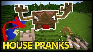 5 Minecraft HOUSE PRANKS!