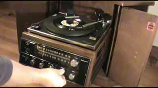 Restoring 1970's MAGNAVOX DRUM TABLE CONSOLE PULL-OUT TURNTABLE