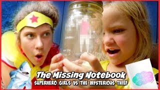 THE MYSTERIOUS THIEF AND SHARK! SuperHero Search for THE MISSING NOTEBOOK SHK