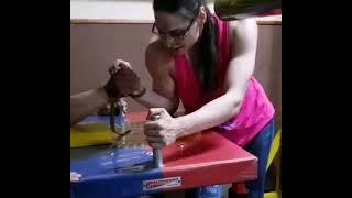 Mixed arm wrestling: Dancer destroys a guy