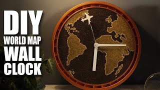 How to make a DIY Wall Clock with World Map