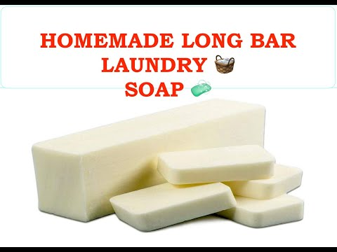 HOMEMADE LONG BAR LAUNDRY SOAP FROM SCRATCH
