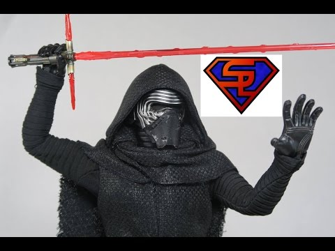 Star Wars The Force Awakens Hot Toys Kylo Ren Movie Masterpiece 1 6 Scale Collectible Figure Review