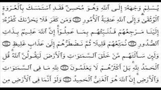 سورة لقمان للمقرئ سعد الغامدي