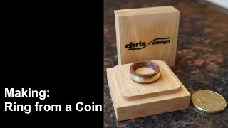 Making a Ring from a 50 Cent Coin