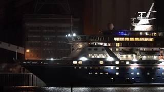Balmoral | Evening Departure at Port of Bremen | 15.12.2018 | 4K Ultra HD