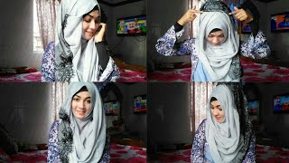 Easy 3 Hijab styles with covered chest for everyday classes & office ftStyline Collection| Pari zaaD