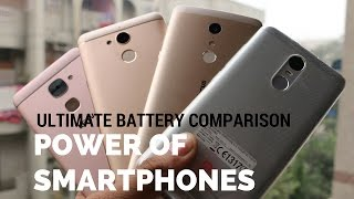 Ultimate Battery Comparison Redmi Note 3 | Le2 | Coolpad Note 5 | Infocus Epic 1| Sharmaji Technical