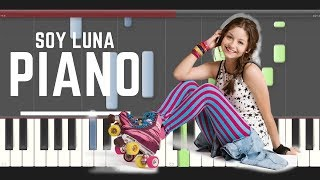 Soy Luna Invisibles piano midi tutorial sheet partitura cover how to play 2 karaoke