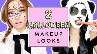 Halloween Makeup Looks | Panda + Shattered Doll