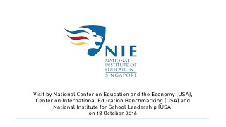 NIE Receives Strong Accolade as a World Class Teacher Education Organisation