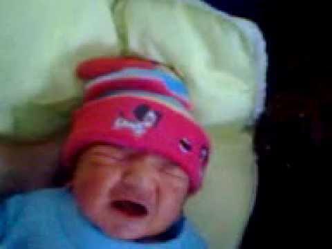 pakistani baby crying ofter birth.