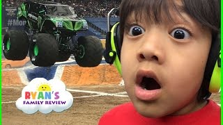 Giant Monster Truck show and pit party with children play area family fun trip