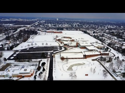 Beachwood High School viewed from a drone - December 2016