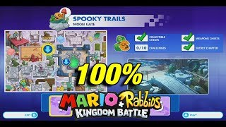All Chests / Collectibles at Spooky Trails (World 3) | Mario + Rabbids Kingdom Battle