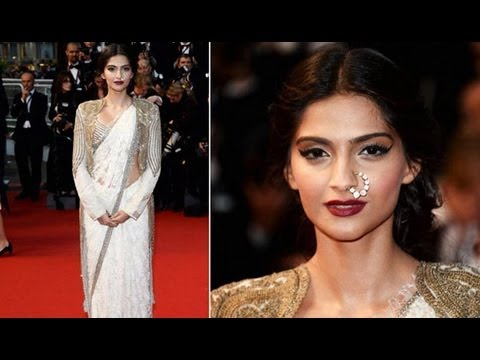 Sonam Kapoor Wears Anamika Khanna For Cannes 2013 Opening Ceremony
