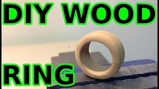 Making a wood ring with basic tools