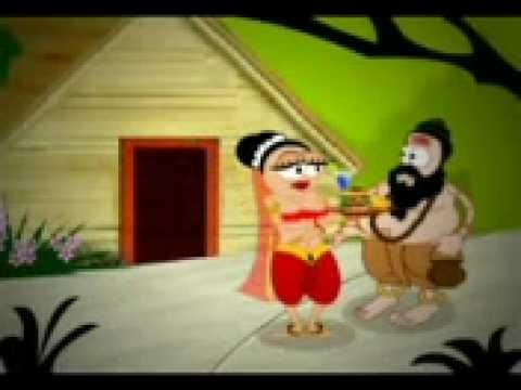 A Cartoon-ravan-sita
