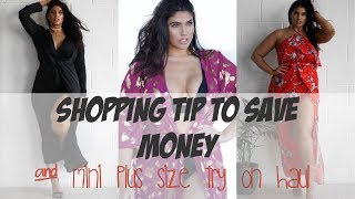 SHOPPING TIP TO SAVE MONEY & MINI PLUS SIZE TRY ON HAUL| LA