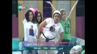 رقص كنزة والبنات على أغنية gangnam style