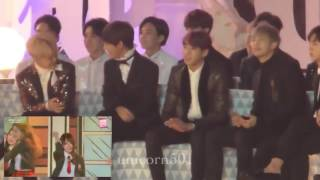Mp3cs Com   BTS reaction to I O I @ Melon Music Awards 2016