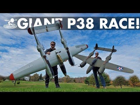 Epic Warbird Air Race Giant DIY P 38 Lightnings