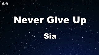 Never Give Up - Sia Karaoke 【No Guide Melody】 Instrumental