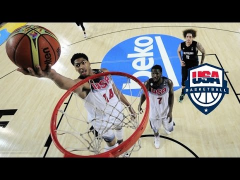 Anthony Davis & Kenneth Faried Team USA Full Highlights 2014.9.2 vs New Zealand - 36 Pts, 20 Rebs!