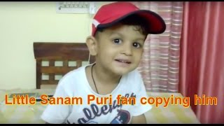 Little Sanam Puri fan copying him | Singing Hai Apna Dil Toh Awara