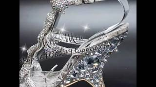 Amazing glass heels sandals shoes collections
