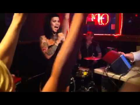 Sexy punk girl singing ballroom blitz