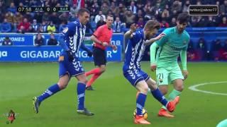 مباراة برشلونة والافيس 6-0 الدوري الاسباني [كاملة] تعليق الدراجي 11-02-2017-HD